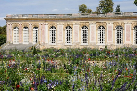palace of versailles park le grand trianon in the park of versailles palace stock photo