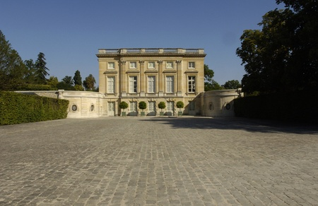 Le Petit Trianon in the park of Versailles Palace photo