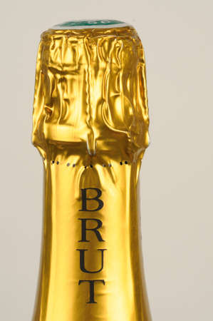 bottle of brut Champagne photo