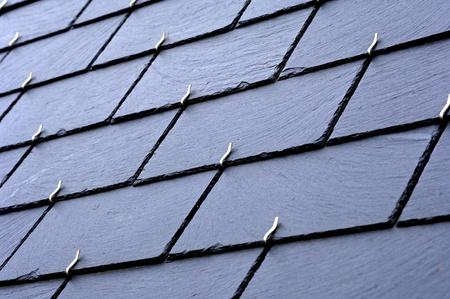 スレート屋根の上 写真素材