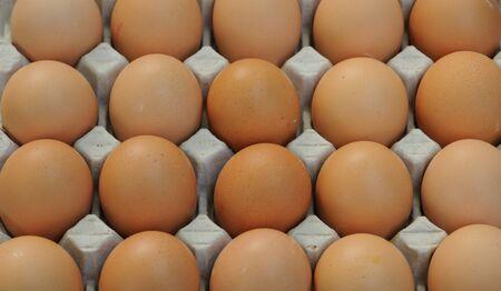 albumen: eggs at the market Stock Photo