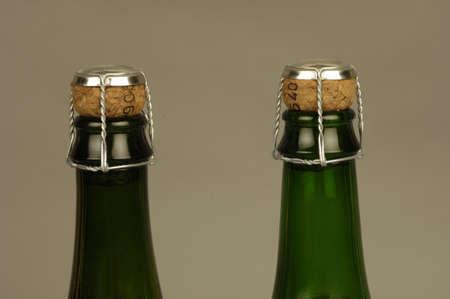 bacchus: French cider bottle Stock Photo