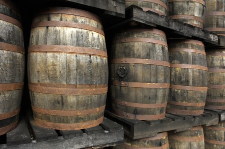 Martinique, barrels of old rum