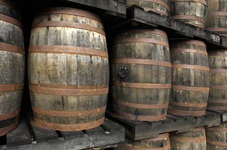 martinique: Martinique, barrels of old rum
