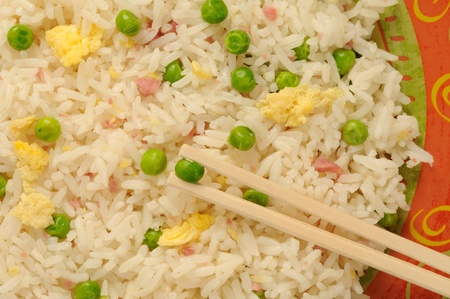 close-up of Chinese fried rice