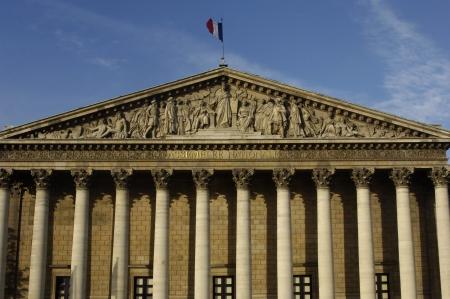 Frankrijk, Parijs, Palais Bourbon, Franse parlement Stockfoto