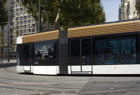 railborne vehicle: France, tramway in Marseille