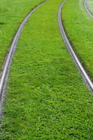 France, railway of Strasbourg tramway Stock Photo - 12018854