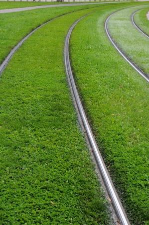 railborne vehicle: France, railway of Strasbourg tramway Stock Photo
