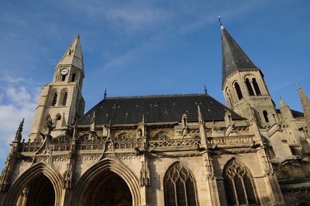 collegiate: France, collegiate church of Poissy Stock Photo