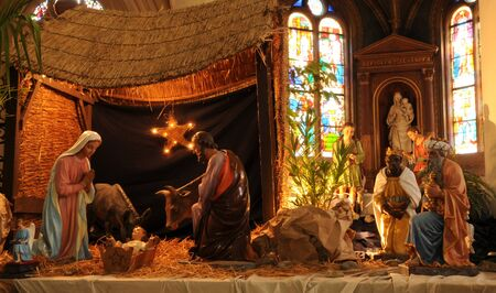 France, nativity scene in Triel-sur-Seine church photo