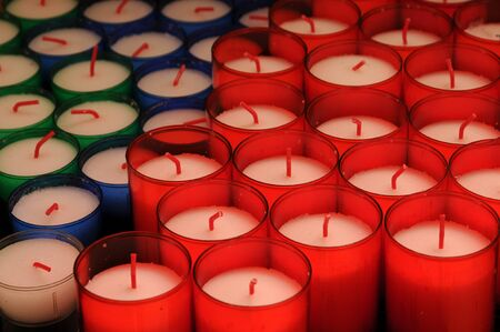votive candle: France, a votive candle in a church
