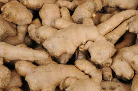 stall of ginger on the market