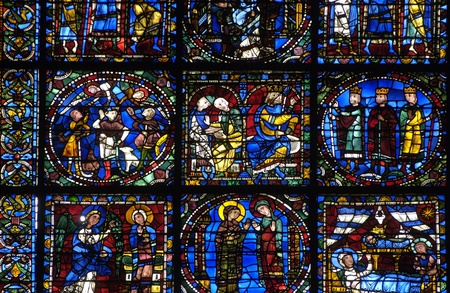 stained glass window of Chartres cathedral