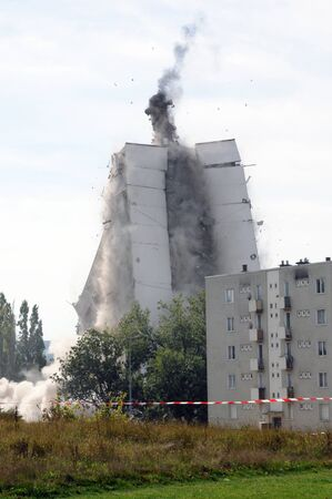 ruined: France, explosion of an old building