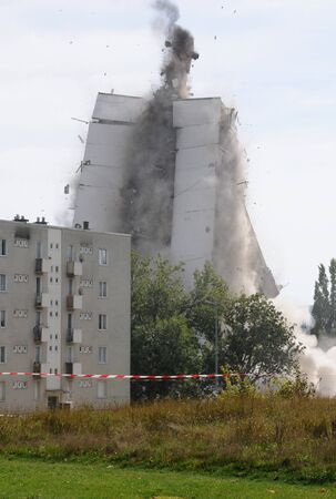France, explosion of an old building Stock Photo - 12092310
