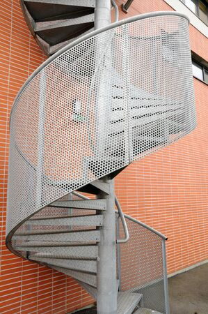 metal emergency  staircase photo