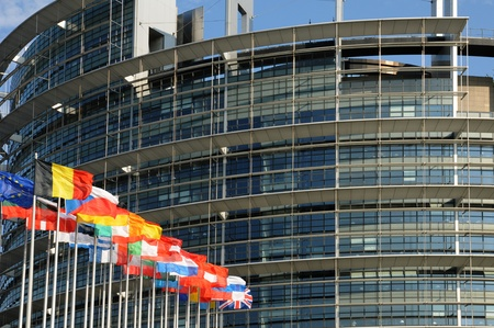 France, the European Parliament of Strasbourg Stock Photo - 12092419