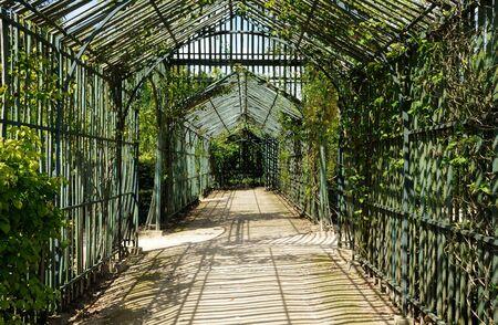 petit: bower in the garden of Petit Trianon Stock Photo