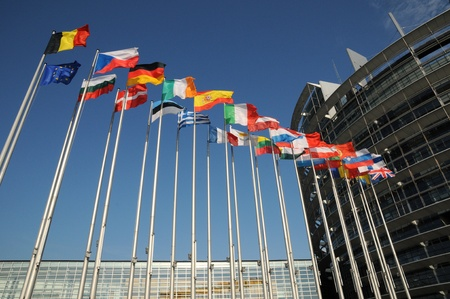 Frankrijk, het Europees Parlement van Straatsburg
