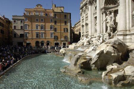 the famous trevi fountain or fontana di trevi in rome