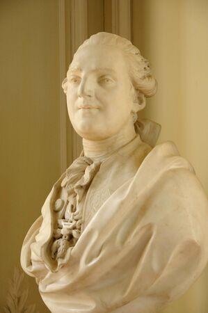 petit: Versailles, bust of Louis 16 in Le Petit Trianon
