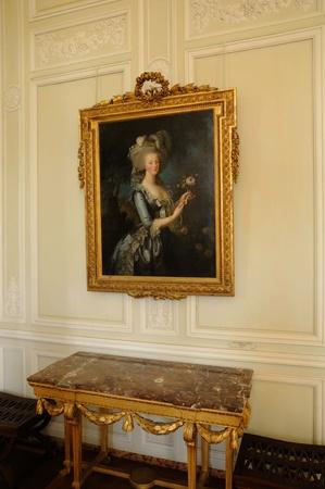 petit: portrait of Marie Antoinette in Le Petit Trianon Editorial