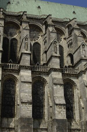detail of Chartres cathedral photo