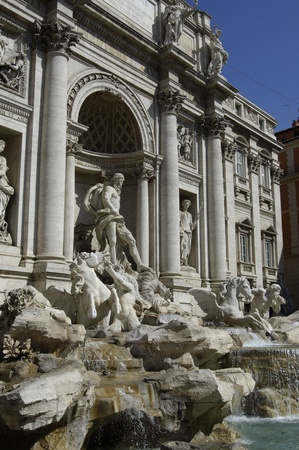 the famous trevi fountain or fontana di trevi in rome  photo
