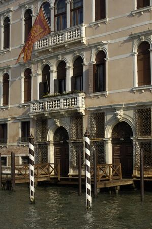 italia: Italy, old palace near Grand Canal Stock Photo