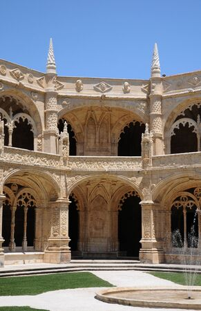 cloister: Portugal, cloister of Jeronimos monastery in Lisbon