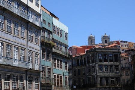 old houses of the city of Porto in Portugal photo