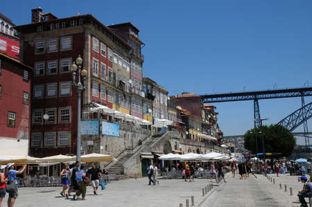 old houses of the city of Porto in Portugal