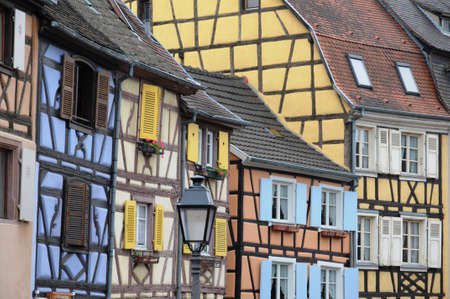 France, Alsace, renaissance house in Colmar