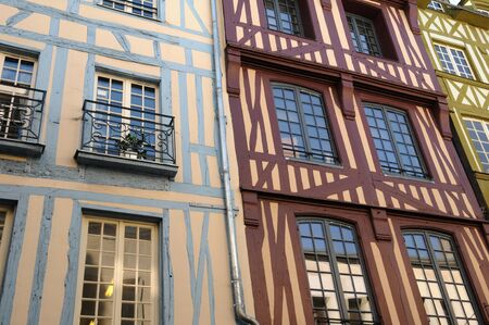 Normandy, picturesque old historical house in Rouen Stock Photo - 12533032