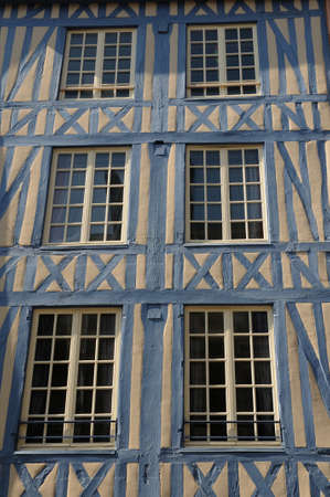 half timbered: Normandy, picturesque old historical house in Rouen Editorial
