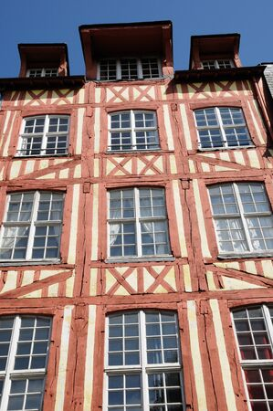 Normandy, picturesque old historical house in Rouen Stock Photo - 12532769