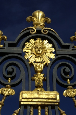 France, golden gate of Versailles palace photo