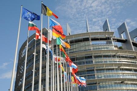 Frankreich, das Europäische Parlament in Straßburg