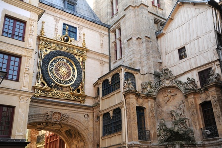 normandy: Normandy, Le Gros Horloge, the symbol of Rouen