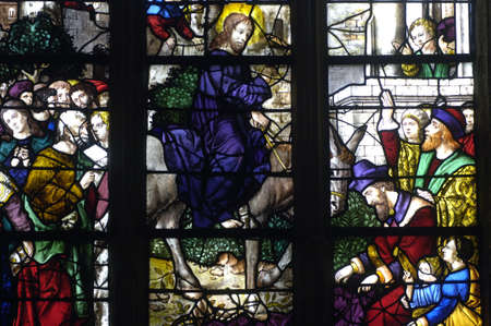France, stained glass window in the church Saint Martin of Triel Stock Photo - 12513107
