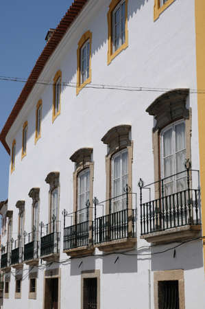 house in the city of Evora in Portugal Stock Photo - 12532368