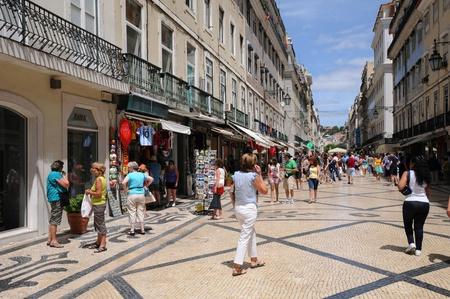 Portugal, the pedestrian Augusta street in Lisbon