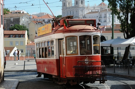Portugal, the touristy old tramway in Lisbon Stock Photo - 12532082