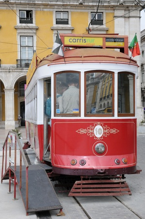 Portugal, the touristy old tramway in Lisbon Stock Photo - 12532332