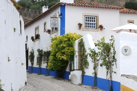 the small village of Obidos in Portugal Stock Photo