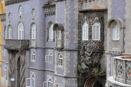 sintra: Portugal, the Pena National Palace in Sintra, Editorial