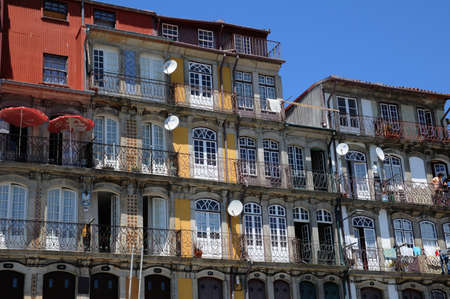 Portugal, the old historical houses in Porto