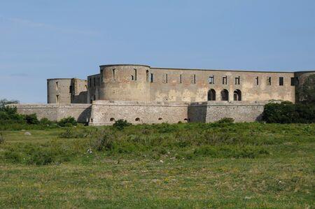 Sweden, the ruin of Borgholm renaissance castle