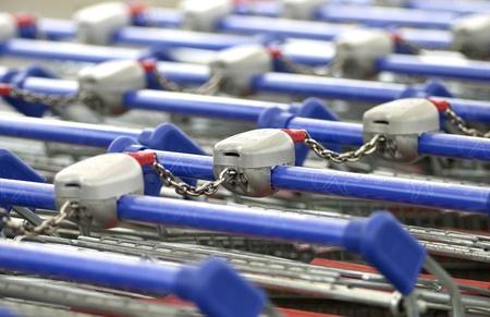 close up of market cart